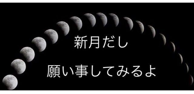 奥さんっ今日は、新月ですよ!願い事しよっ